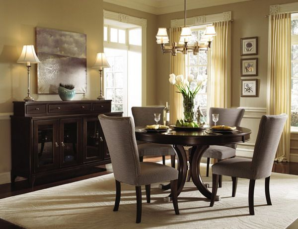 alston round table dining room set by kincaid furniture furniture - Kitchen Table And Chair Sets