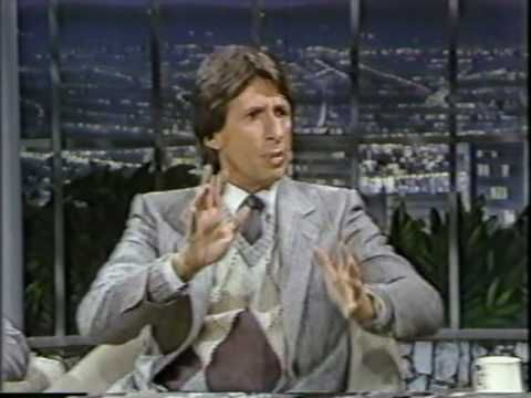Johnny Carson and one of his favorite guests, comedian David Brenner