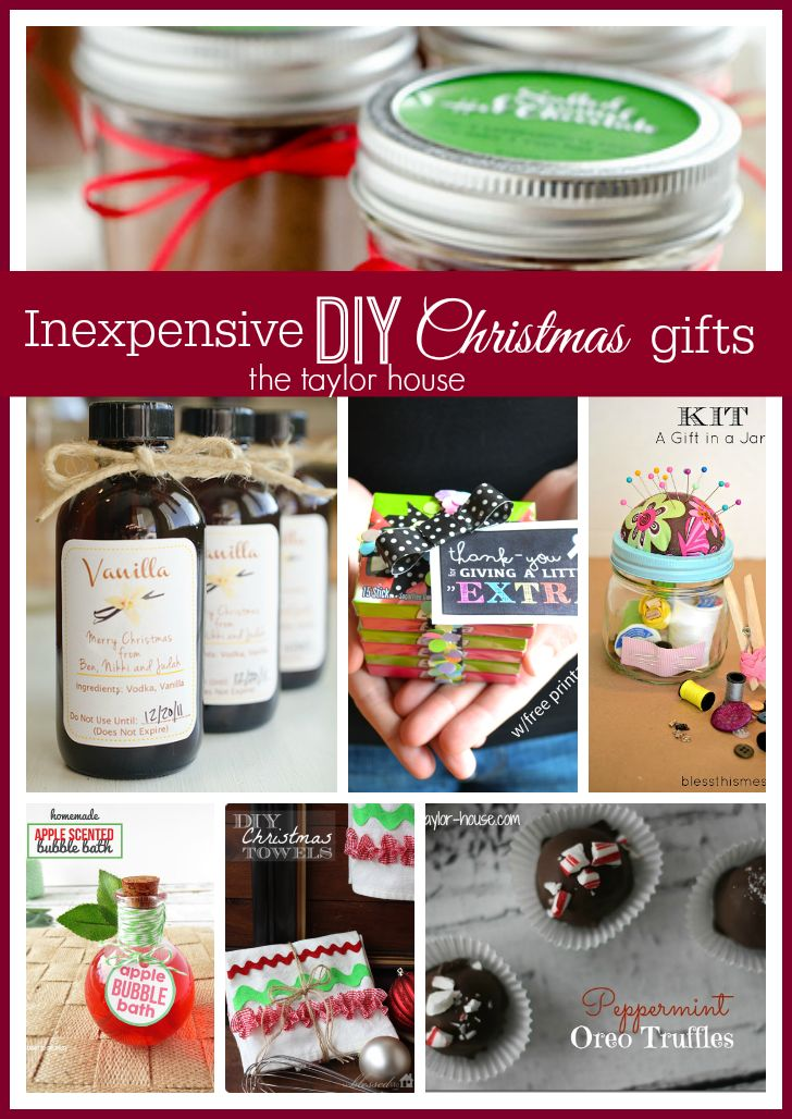 Inexpensive DIY Christmas Gift Ideas - The Taylor House