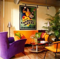 The kind of room you'd want to reminisce about 1960s Hollywood and drink martinis in.