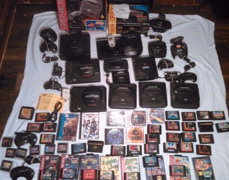 Huge Sega Lot Sega Saturn Dreamcast Genesis Sega CD Game Gear Sega 32X Genesis 3  #retrogaming #HotDC  Not a lot of DC games but great lot nonetheless.