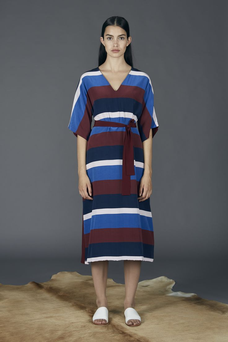 Kyoto Dress - College Stripe