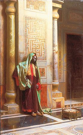 The Moorish Sultan in The Harem/Palace 1903 by Ludwig Deutsch by Enzie Shahmiri - #Moors #Moorish #Moor #African