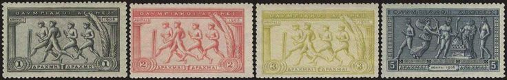1906 Olympic Games, complete set of 14 values, u/m. (Hellas 189/202-1180E).