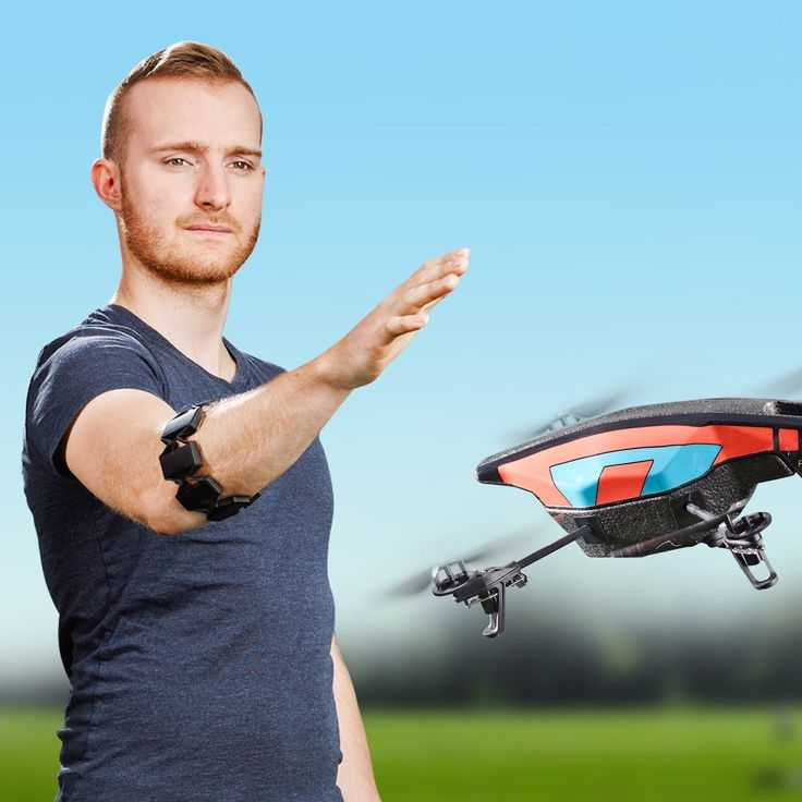 The Myo gesture control armband reads the muscle activity in your forearm and gives you touch-free control of technology with hand gestures and motion.