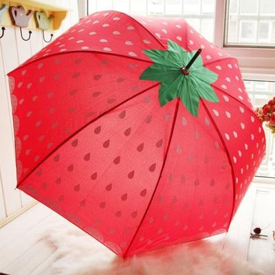 Strawberry Umbrella! YAAAS! This has kawaii DIY inspiration written all over it!