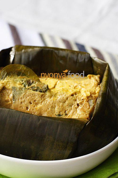 Otak-Otak (Nyonya Fish Custard Wrapped with Banana Leaves) | Easy Asian Recipes at RasaMalaysia.com | rasamalaysia.com