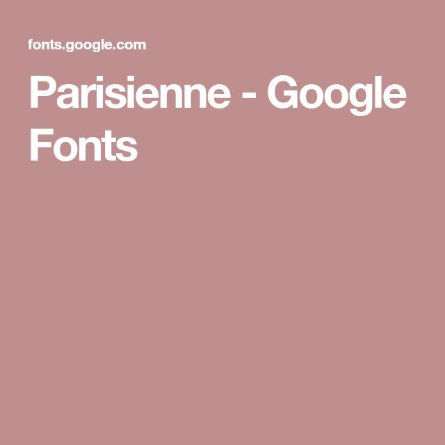 Parisienne - Google Fonts