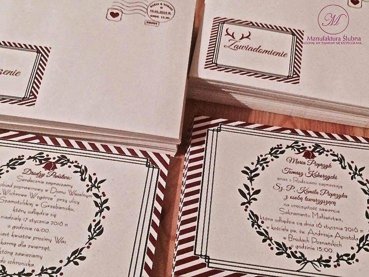 #wedding #day #paper #decorations #invitations #christmas #style #red #green #stationery #bride #groom #wesele #ślub #zaproszenia #świateczny #styl #czerwień #zieleń #papeteria #pannamłoda #panmłody