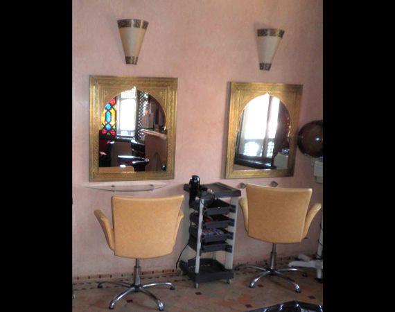Parrucchiere (Arredamento) prodotti hammam, Sala coiffeur tipica