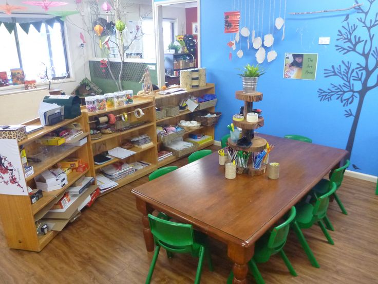 The work table in the art area at Pied Piper Preschool