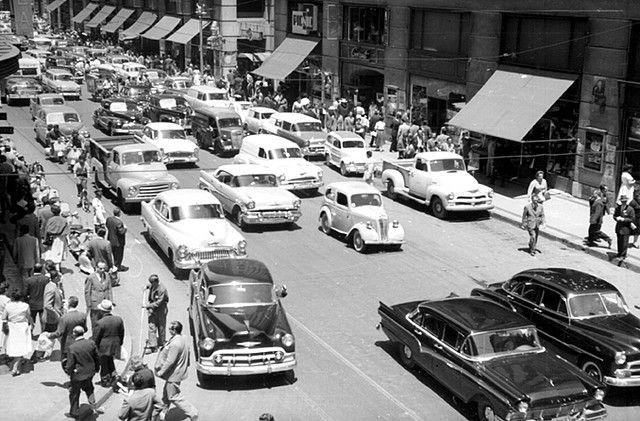 la calle ahumada en 1960 y los cines de Santiago