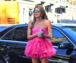Anna Dell Russo: feathered and fuchsia - Fashionising.com