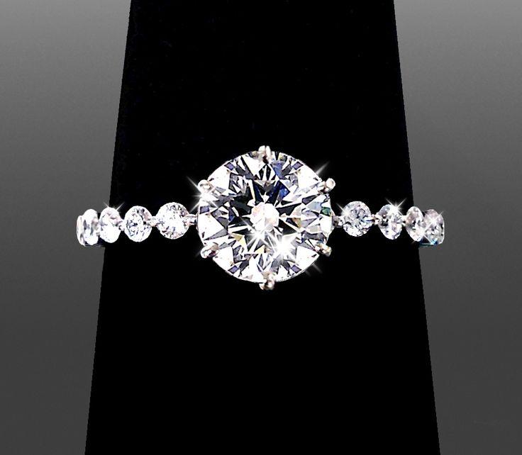 Round Cut Diamond Engagement Rings by Vanessa