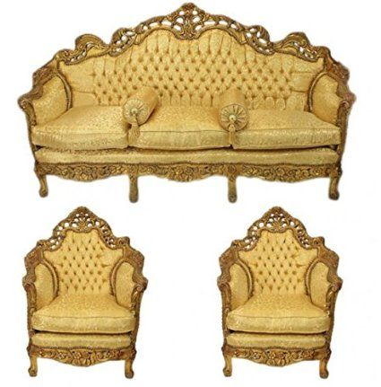 casa padrino barock wohnzimmer set versailles gold muster