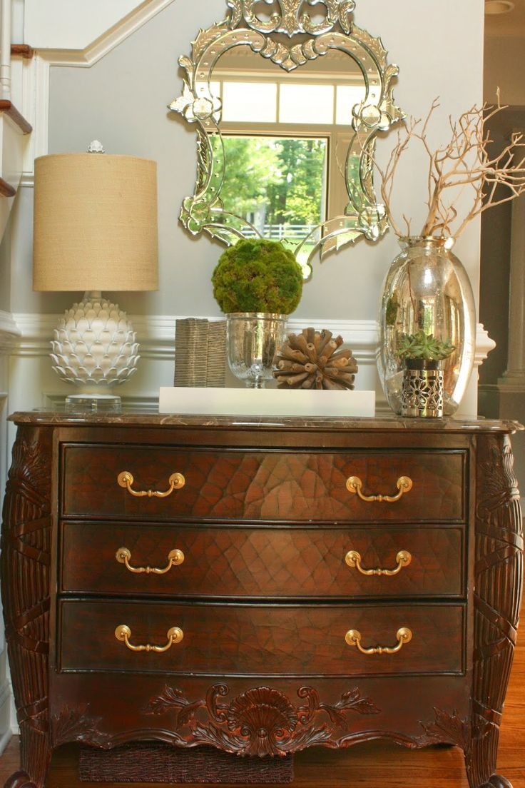 entry way styling for a space with similar dimensions, from Stephanie Kraus Designs