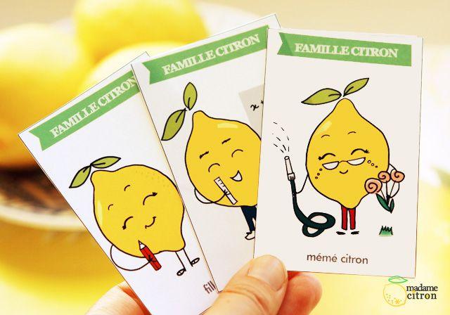 DIY : Les citrons � Jeu des 7 familles � imprimer