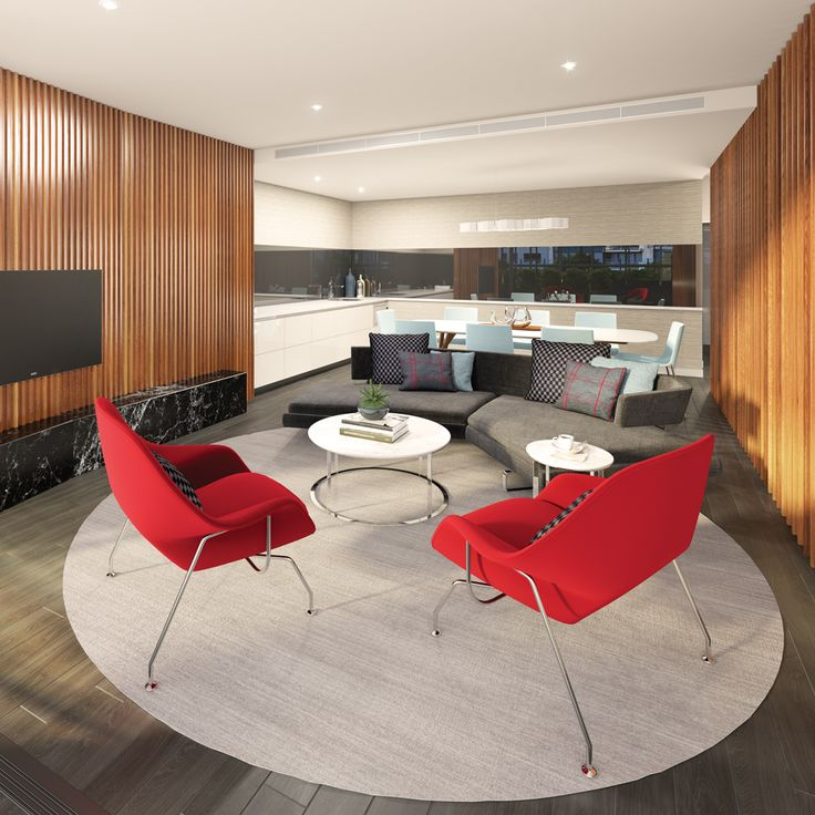 Stylish resident lounge at Southbank Central