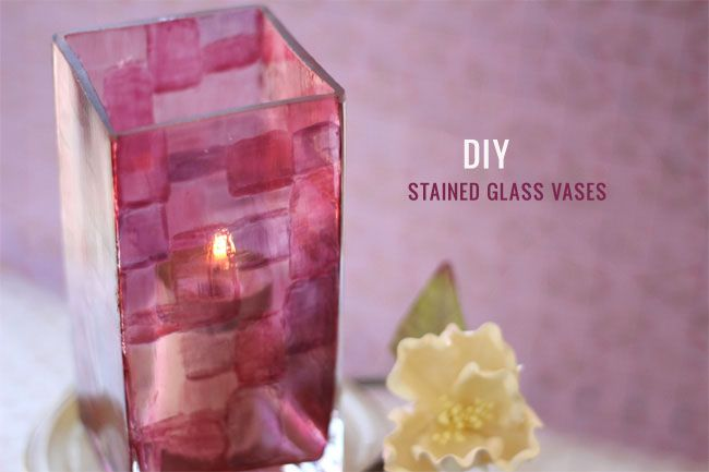 DIY: Stained Glass Votives