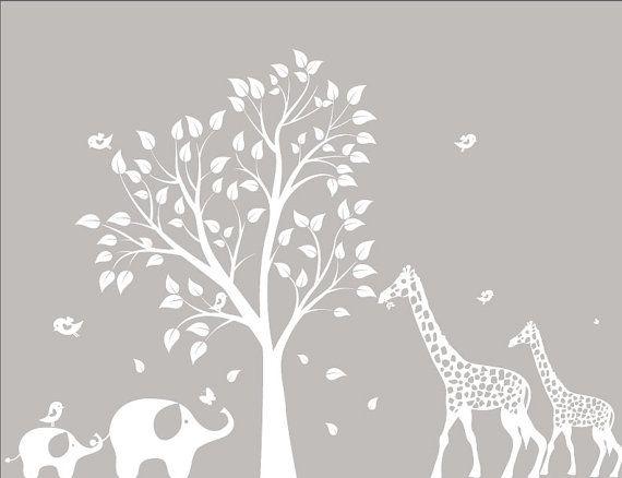 TREE! Baby Nursery Wall Decals Nursery Garden Tree by ModernWallDecal