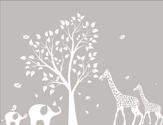 TREE! Baby Nursery Wall Decals Nursery Garden Tree by ModernWallDecal