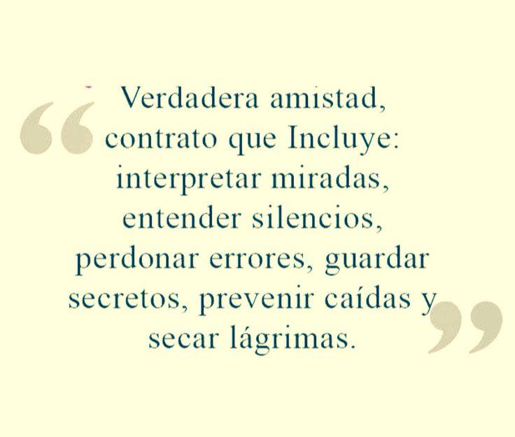 〽️Verdadera Amistad, Contrato Que Incluye... Friend QuotesSpanish ...