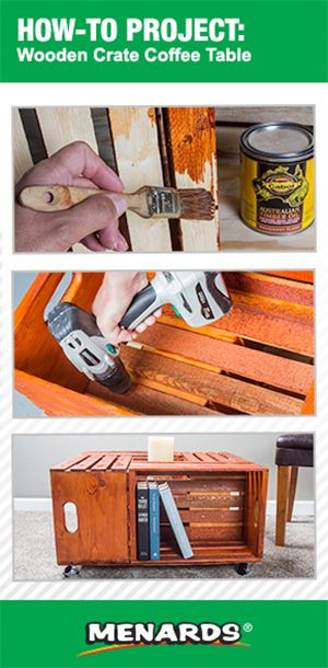 How To Build A Wooden Crate Coffee Table brought to you by the Menards How-To Center http://www.menards.com/main/c-19739.htm
