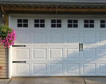 Carriage House Style Faux Windows Garage Door Vinyl by WrenGifts