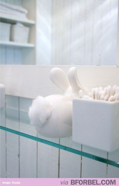 Bunny Butt Cotton Dispenser-I'd like this please
