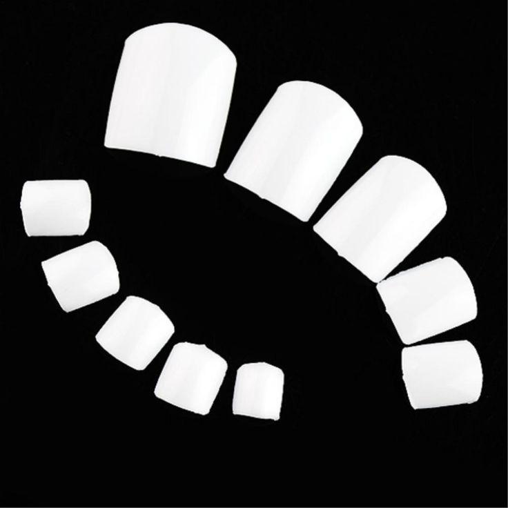 500 pçs/lote branca unhas falsas dicas falso acrílico Faux Ongles Toes artificiais pontas das unhas para Nail decoração de unhas ferramenta EQ0062 alishoppbrasil