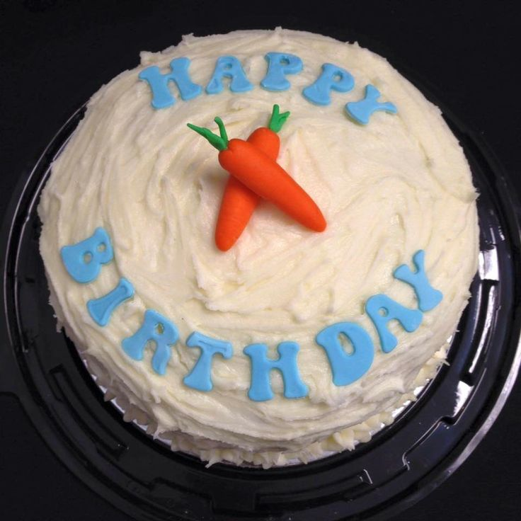 Carrot Cake with Cream Cheese Frosting decorated by Coast Cakes Ltd
