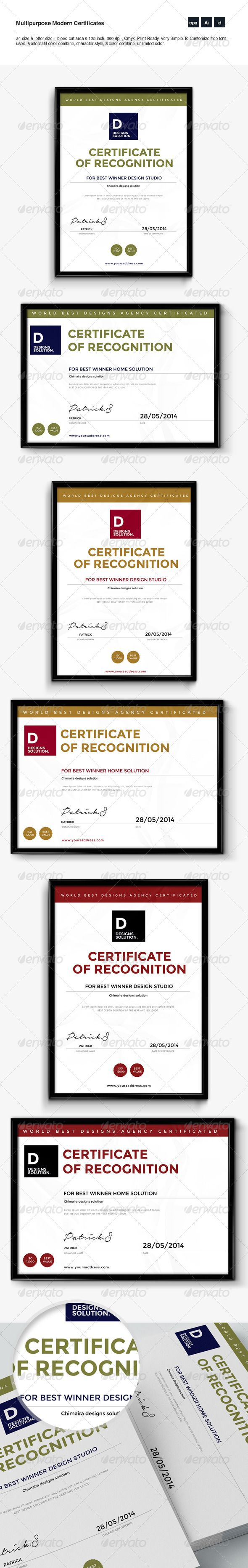 156 best certificate template design images on pinterest multipurpose clean certificates xflitez Image collections