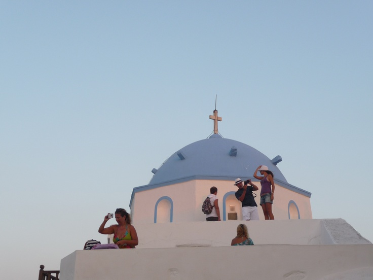 church with a view, astypalaia