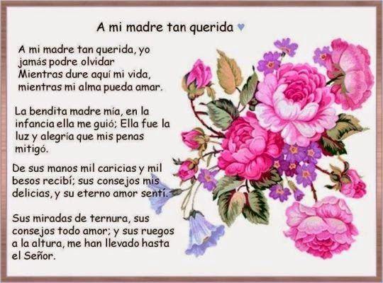 Encantadores poemas para mama en su dia
