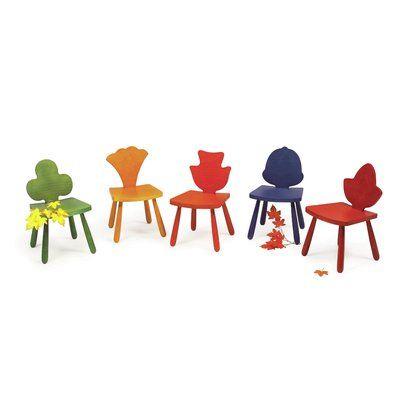 "Children's Furniture Co Leaf Clover Kids Novelty Chair Size: 23"" H x 14.5"" W x 14"" D, Color: Natural"
