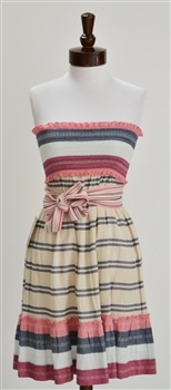 Juicy Couture  Mia Striped Strapless Cotton Dress. Cuteee!
