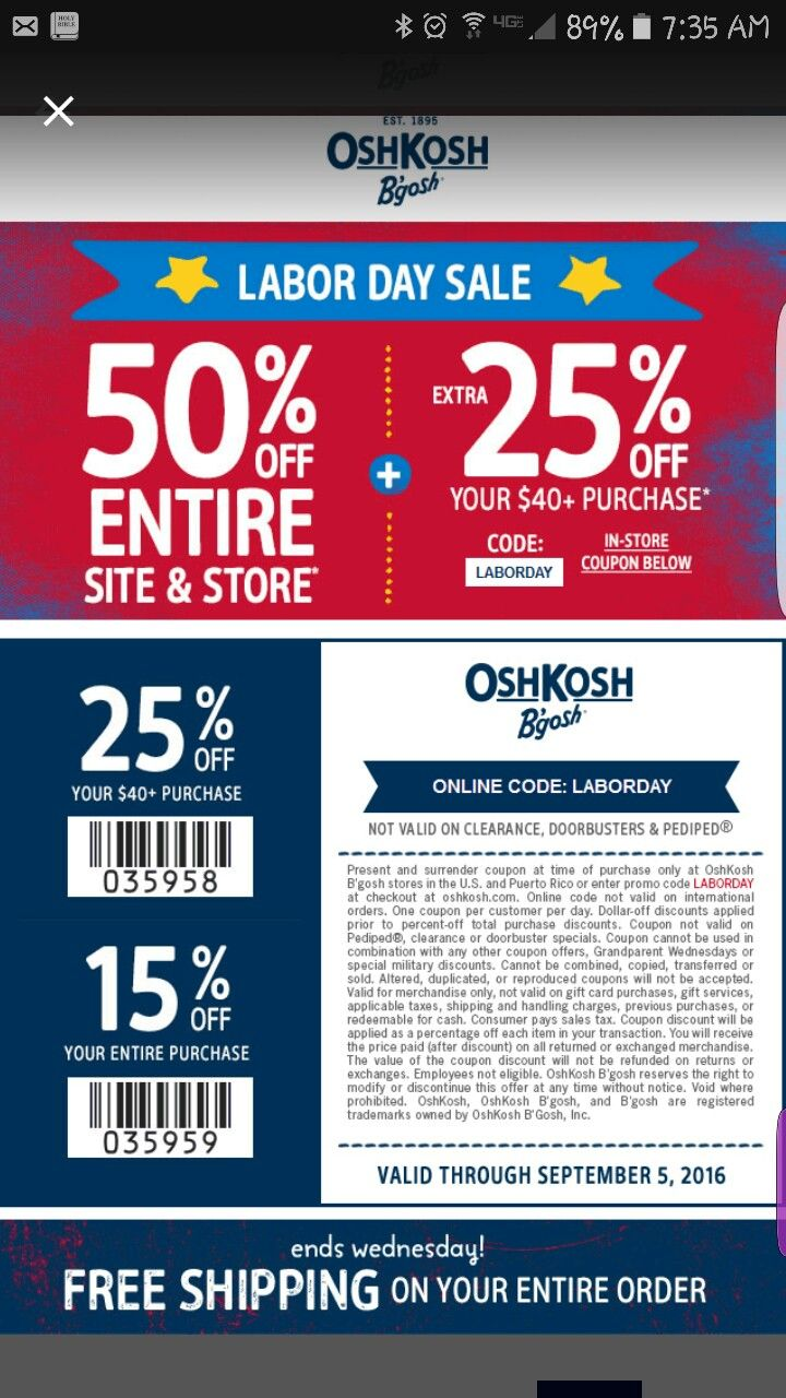 7 best my coupons images on pinterest | coupon, coupons and oshkosh