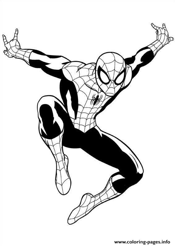 Spider Man Suit Coloring Pages Design