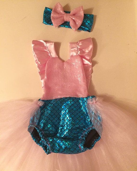 Little mermaid costume, Little Mermaid outfit, mermaid baby costume, little mermaid kid costume, mermaid outfit, Little mermaid tutu,