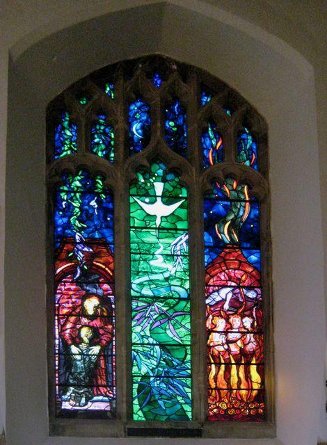 John Piper's Benjamin Britten memorial window in the Church of St Peter and St Paul, Aldeburgh