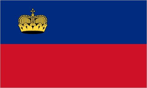 "Liechtenstein, since 1982 At the 1936 Summer Olympics, the team from Liechtenstein discovered to their surprise that their flag was identical to the civil flag of Haiti. A golden ""princely hat"" was added to the top-left corner the follow year. Prime..."