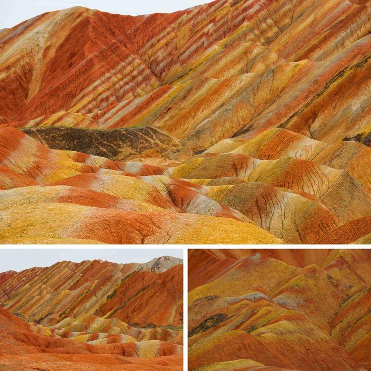 Op Pinterest zag ik de Danxia Landform voor het eerst: een ruig landschap met felgekleurde rotsformaties alle kleuren van de regenboog. Ik vroeg me af of bergen wel echt al die kleuren konden hebbe…
