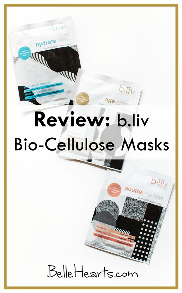 Review: b.liv Bio-Cellulose Masks