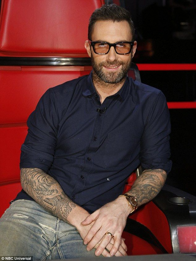 Adam Levine wears the Spring 2016 Optical style RYCE with custom wash tint.