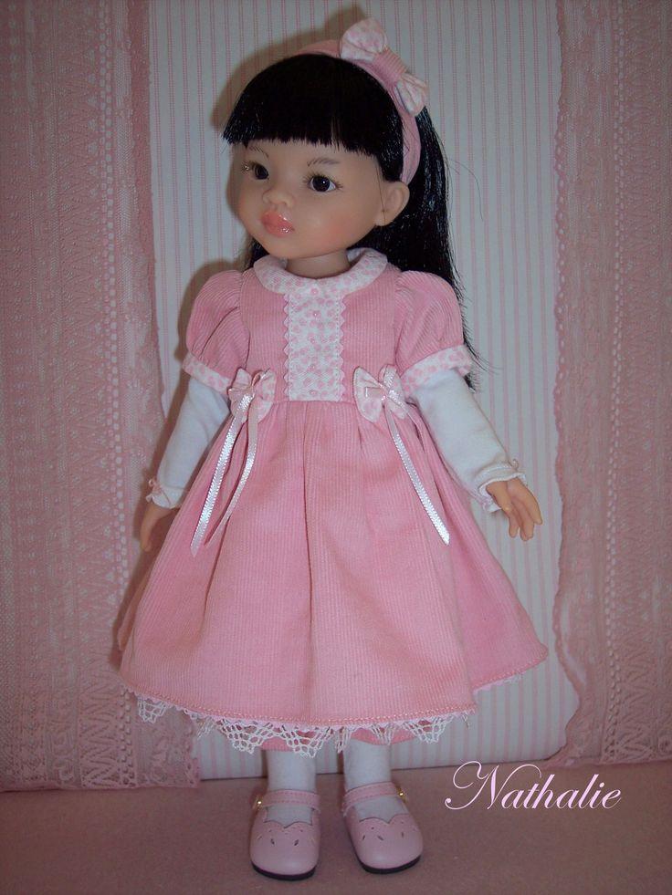 Ensemble velours pour poupée Paola Reina, Little Darling...