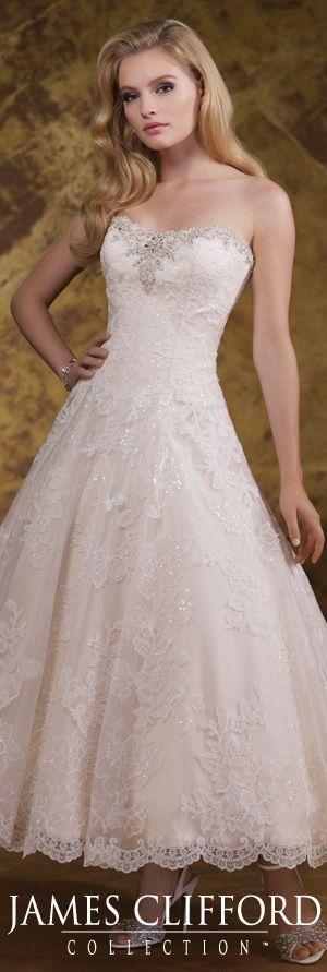 The James Clifford Spring 2015 Wedding Dress Collection - Style No. J11591 jamescliffordcollection.com #weddingdresses  #shortweddingdresses