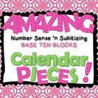 "You are going to have the most amazing, ""number-sense building"" calendar this year! This set includes day and month labels, plus base ten block calendar pieces 1-31 for $2!"