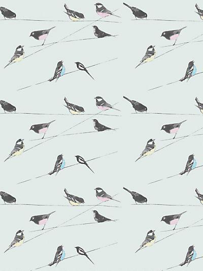 Buy Louise Body Garden Birds Fabric, Blue online at JohnLewis.com - John Lewis