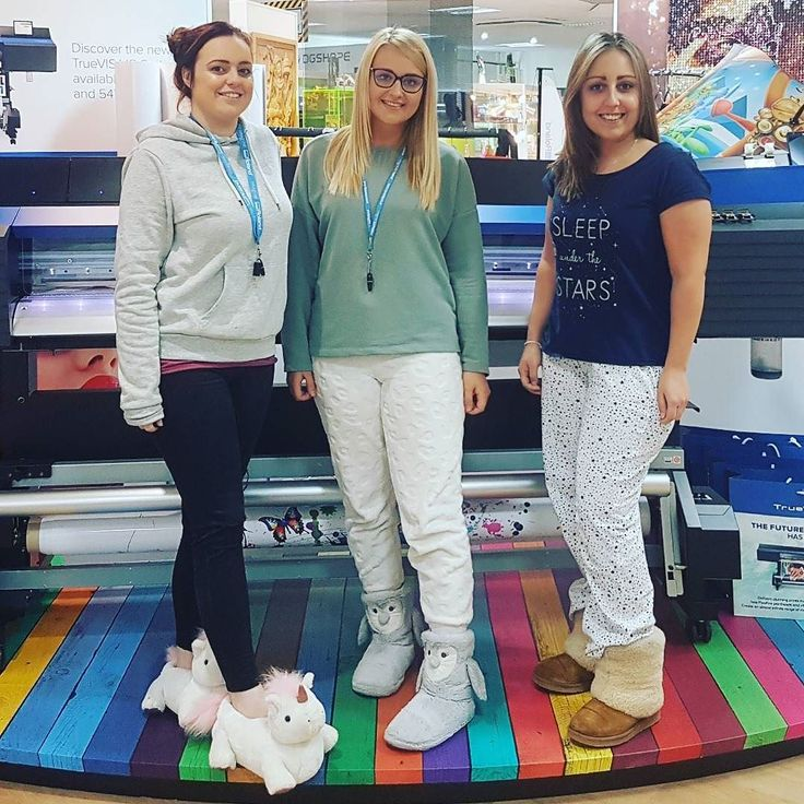 Children in need PJ day! Can we do this every week? #rolanddg #childreninneed #pjday #wideformatprinting #office