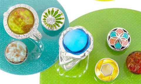 Kameleon Jewelry Colours of Summer of Love Kameleon Jewelry Rings KR046 and KR047– Splash Jewelry